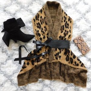 New! Leopard Soft & Shaggy Vest